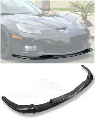 ZR1 Style ABS Plastic Front Bumper Lower Lip Splitter For 05-13 Corvette C6 Z06 • 164.99$