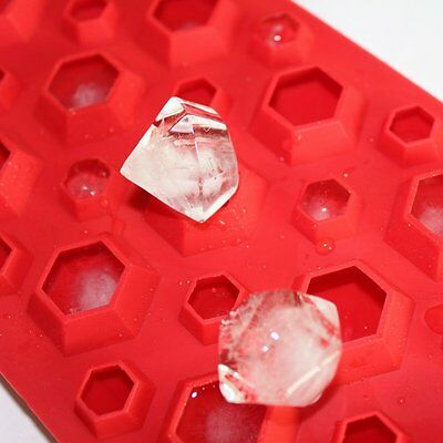 £3.36 • Buy 3D Diamond Gem Ice Cube Craft Soap Candy Mould Silicone Ice DIY Mold Ice Tray