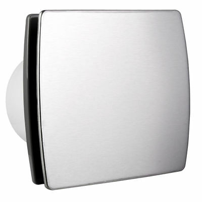 £29.99 • Buy 100mm Bathroom Extractor Fan With Modern Stainless Steel Front Panel Ventilator