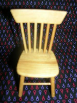 $6.99 • Buy Dollhouse Miniature 1:12 Wooden Spindle Back Chair