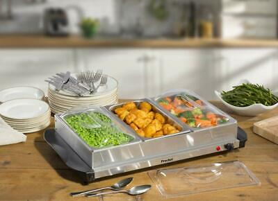 £86.99 • Buy Buffet Server 1.2l Per Tray Hotplate Food Warmer Tray Serving Dinner Parties New