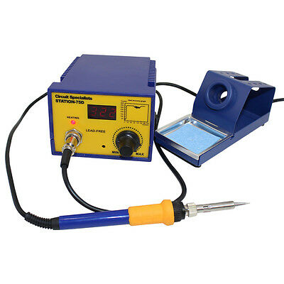 CSI Station75D Digital Temperature Control Soldering Station Powerful 75W Iron • 46.99£