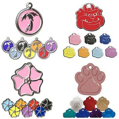 Dog Tags Engraved Pet ID Name Discs Mixture Of 26mm Design Personalised Identity • 3.25£