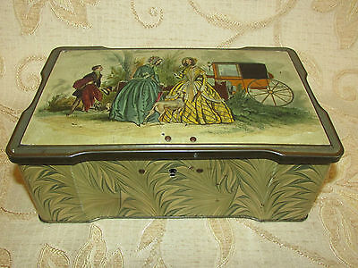Large Vintage Collectable Clarnico Sweets Tin With Lock • 19.99£