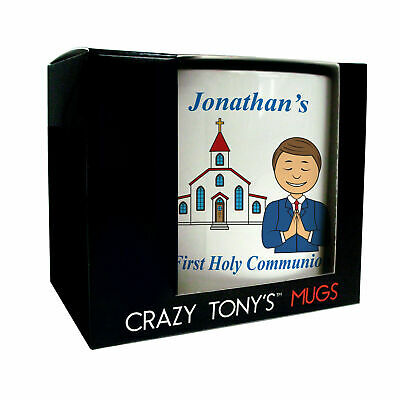 1st Holy Communion Gift For A Boy, Boy's Personalised First Holy Communion Mug • 11.94£