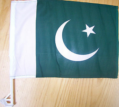£1.95 • Buy Pakistani Car Flag With Unbreakable Stick 12'x16' Clips Into Car Window