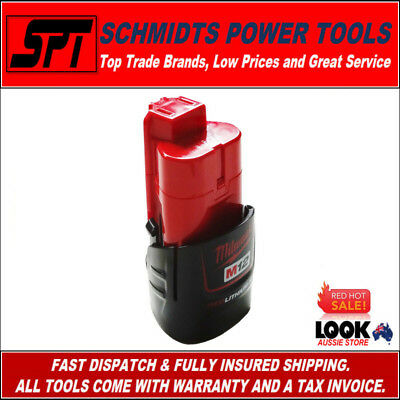 AU48.80 • Buy MILWAUKEE M12B M12 12V RED LITHIUM BATTERY GENUINE 12 VOLT 1.5Ah LI-ION AU STOCK