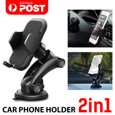 AU14.95 • Buy 360° Mount Holder Car Windshield Stand For IPhone Samsung Mobile Phone GPS