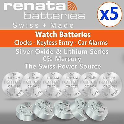 £3.19 • Buy 5x Renata Wrist Watch Battery Swiss Made Silver Oxide Cell All Sizes Batteries