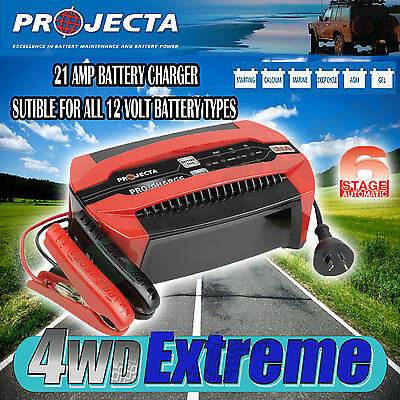 AU269 • Buy Projecta Pc2100 12 Volt 21amp Battery Charger 6 Stage Automatic Gel Agm Sla 12v