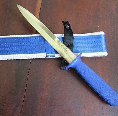 AU89 • Buy F Dick 8.5  Pig Sticking Knife Double Edged Blade With Heavy Aussie Belt Sheath