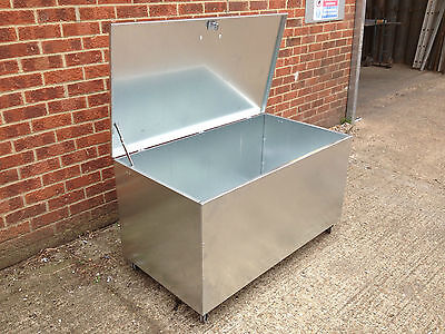 Galvanised Steel Bin Rodent Proof Rubbish Storage Recycling Container  (lrb) • 212.50£