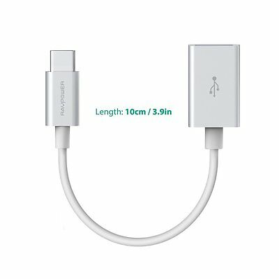 AU14.99 • Buy RAVPower 10cm USB C Type C To A Female OTG Cable