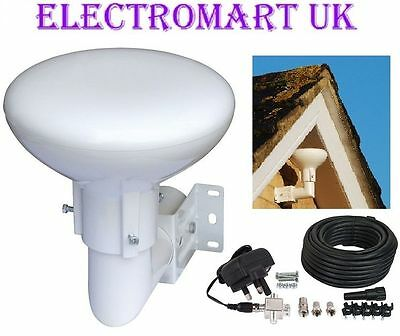 Outdoor Loft Omni Directional Tv Digital Freeview Booster Aerial 20db Gain • 59.90£