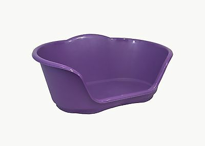 Medium Plastic Purple Dog / Cat / Pet Bed, Basket - Heavy Duty Made In Uk • 10.95£