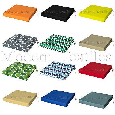£9.99 • Buy WATERPROOF Chair Cushion Seat Pads OUTDOOR Tie On Garden Patio REMOVABLE COVER!