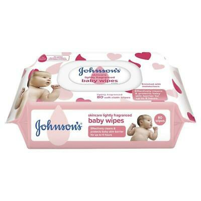 AU4.49 • Buy Johnson's Baby Wipes Skincare Lightly Scented 80 Pack