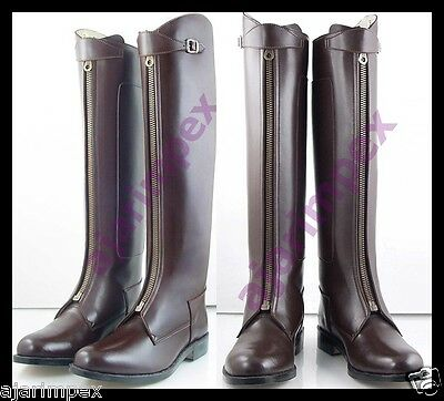 1c4d28a1ad3e Polo Men Horse Riding Leather Long Zipper Ridding Real Leather Boot Tall  Boot • 169.45