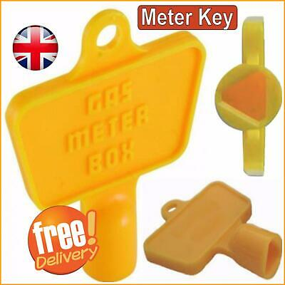 Yellow Service Utility Meter Key Gas Electric Box Cupboard Cabinet Triangle DIY • 2.29£