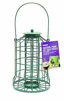 Gardman Squirrel Proof Guard Bird Fat Snax Feeder Garden Hanging Tray A01622 • 13.89£