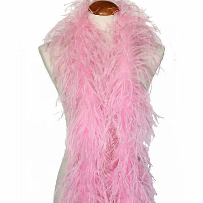 £36.21 • Buy 2 Ply OSTRICH FEATHER BOA - LIGHT PINK 2 Yards Trim/Hat