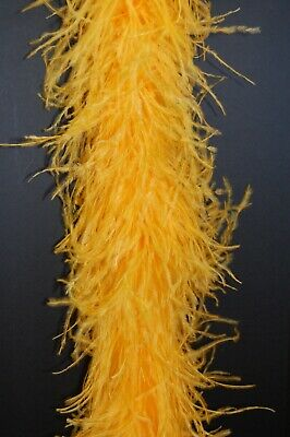 £64.46 • Buy 4 Ply OSTRICH FEATHER BOA - GOLD 2 Yards Costumes Craft