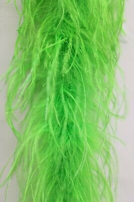 £36.21 • Buy 2 Ply OSTRICH FEATHER BOA - LIME GREEN 2 Yards Costumes