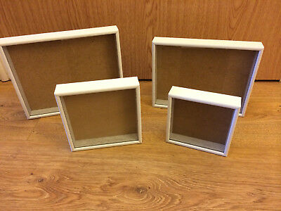 Picture Frame / Box - 1 Inch Deep Frames, Painted White Wood -handmade - NEW • 7.50£