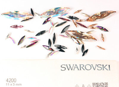 Genuine SWAROVSKI 4200 Navette Fancy Crystals Rhinestones * Many Colors & Sizes • 3.68£