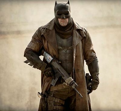 $178.99 • Buy Batman Dawn Of Justice Knightmare Brown Distressed Leather Trench Coat All Sizes
