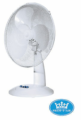 Prem-I-Air 16'' Home Office Work Desk Oscillating Cooling Fan 3 Speed Settings  • 24.99£