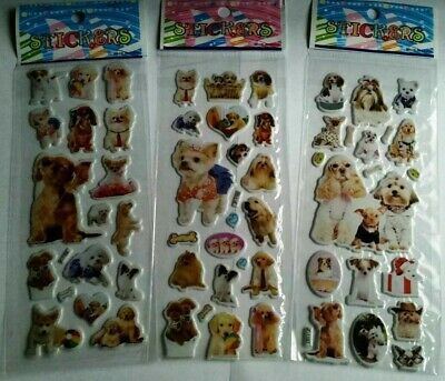 Dog Puppy Stickers Children Party Bag Fillers Gifts Crafts School Stationery • 1.19£