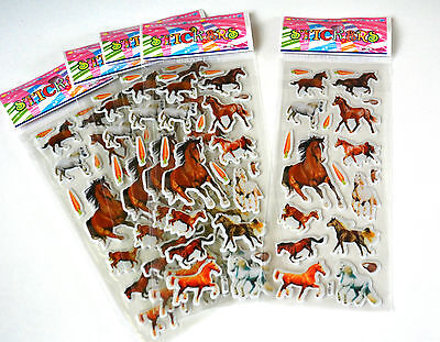 Horse Stickers Pony Children Party Bag Fillers Gifts Crafts School Stationery  • 3.49£