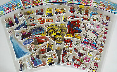 £2.49 • Buy Children 3D Stickers Cartoon Character Stickers Party Bags Christmas Gift