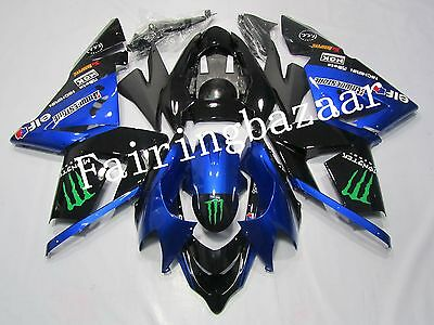 $500 • Buy Fit For 2004 2005 ZX10R Black Blue ABS Injection Mold Bodywork Fairing Kit