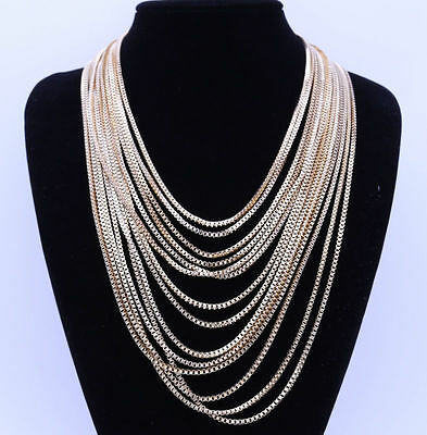 Summer Vintage Classic Multi-storey Gold Chain Chunky Choker Necklace Jewelry UK • 5.99£