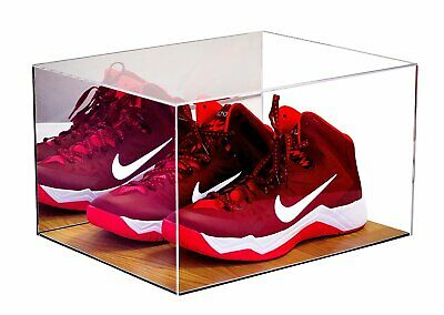 Basketball Shoe Acrylic Display Case With Mirror And Wood Floor (A025) • 66.29$
