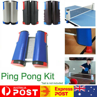 AU15.99 • Buy Table Tennis Net Rack Portable Retractable Replace Ping Pong Kit Sport Xmas Gift