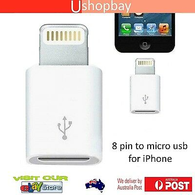 AU5.45 • Buy Micro USB To 8 Pin Lightning Adapter For IPhone 5 Mini Nano IPad Sync & Charger