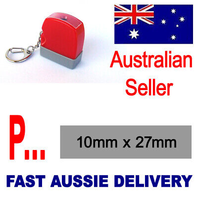 AU10.19 • Buy  PAID  Or Personalised Text Name Signature  Rubber Flash Stamp Self Inking