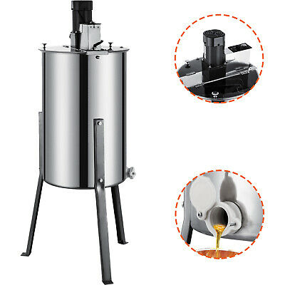 AU309.94 • Buy Stainless Steel 2/4 Frame Electric Honey Extractor Food Honeycomb W/ 3 Legs
