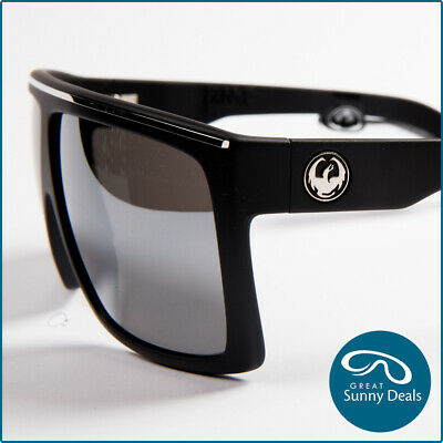 acfeb8fc3d7f NEW Dragon FAME Matte Black Frame With Silver Ionised Lens Sunglasses  (720-2322)