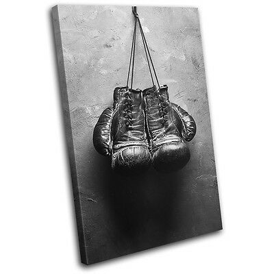 £19.99 • Buy Boxing Gloves Gym Vintage Sports SINGLE CANVAS WALL ART Picture Print