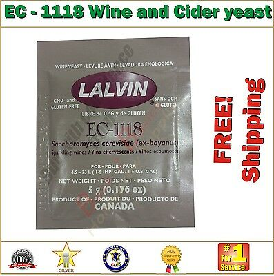 AU3.40 • Buy EC-1118 Wine And Cider Yeast 5g - For The Homebrew Hobbyist