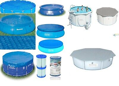 £19.95 • Buy Bestway Swimming Pool Covers - All Sizes - Fast Sets - Steel Frame - Solar Power