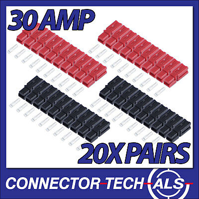 AU36.72 • Buy Anderson Powerpole Red & Black 30 Amp Plugs 12-16 AWG 20x Pairs #PP30KIT1x4