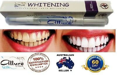 AU10.95 • Buy Allure Teeth Whitening Gel Australian Brand Strongest Legal Formula Home Use