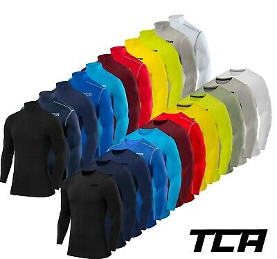 TCA Compression Base Layer Pro Performance Mens Boys Long + Short Sleeve Top Set • 13.99£