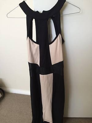 AU19 • Buy Y-london Black And Beige Body-con Dress Size Xs (8au) Rrp $79.95