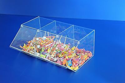 Acrylic Tripple Sweet Pick N Mix Dispenser  • 60.53£